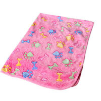 Pet Small/Large Warm Paw Print Dog Puppy Cat Pig Fleece Soft Blanket Beds Mat