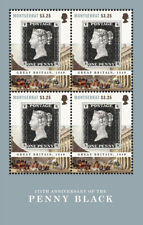 Montserrat - 2015 175th Anniversary of the Penny Black - Sheet of 4 Stamps - MNH