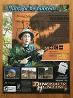 Dinosaur Hunting Original Xbox 2003 Vintage Poster Ad Art Print Official Promo