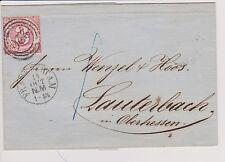 1863 Alt Deutschland-Thurn und Taxis-Faltbrief, Mi 52b-3 Kr.-3 Kreisstempel !!!