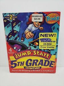 JumpStart 5th Grade Deluxe PC MAC CD learn math money time fractions New Sealed