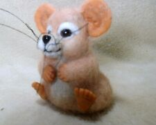New listing Ooak needle felted artist handcraft / handmade mouse rat rodent animated - cute