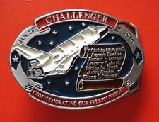 1986 VTG Challenger Commemorating Our Fallen Heroes Collectible Belt Buckle