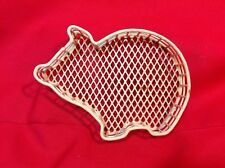 Vintage Plastic-coated Wire PIG Tray/basket