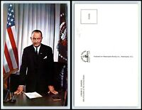 "Vintage Postcard - President Lyndon Johnson ""1"" O32"