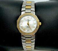 Ladies Baume & Mercier Riviera 18 Yellow Gold & SS ,diamond bezel 5231