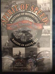 Spirit Of Speed - A History Of Motorcycle Racing In Australia reg 4 DVD Sealed