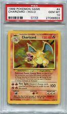 Pokemon Card Unlimited Charizard Base Set 4/102, PSA 10 Gem Mint