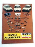 1982 Renault LeCar and 18i Original Factory Car Accessories Brochure Catalog