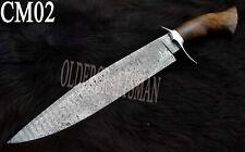 "17"" Custom Handmade Damascus Steel Hunting Bowie / Knife - Rose Wood Handle CM02"