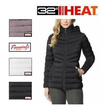 32° Degrees Woman's Hooded 4-Way Stretch Jacket Zip Up Puffer Coat VARIETY F44