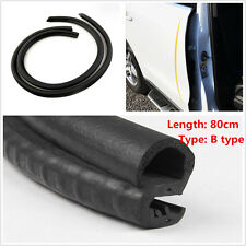 2 pcs B Pillar Car Door Seal Rubber Sealing Strips Rear Edge Trim Windproof