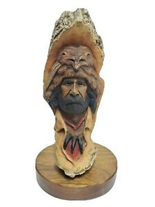 "Vintage Neil J Rose Sculpture ""Jake The Mountain Man"" Limited 1385/2500 USA"