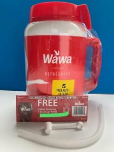 WaWa 64 oz Cold Mug Cup with Lid & Straw + 5 Refill Fountain Drink
