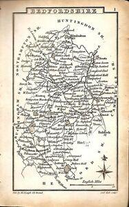 Antique map, Bedfordshire  …