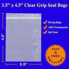 "2000 Grip Seal Resealable Clear Plastic Bag 3.5"" x 4.5"" 88X112mm 1st CLASS DEL."