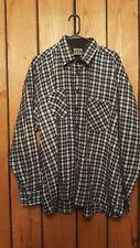 Mens Size XXL PJ Mark Long Sleeve Black Plaid Button Down Shirt