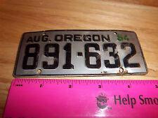 Oregon Bicycle plate - 1954 - Novelty Metal Bike plate, collectors item