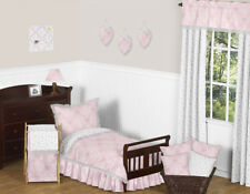 Sweet Jojo Designs Pink and Grey Butterfly Cheap Cute Girl Toddler Bedding Set