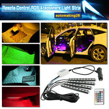 Full Color Glow LED Interior Car Under Dash Footwell Floor Strip Accent Light US