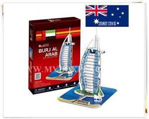BURJ AL ARAB (UAE) DIY Educational 3D Puzzles Jigsaw Kids Adult 44 pieces