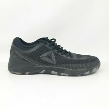 Reebok Mens Crossfit Nano 8.0 CN2967 Black Running Shoes Lace Up Low Top Size 9