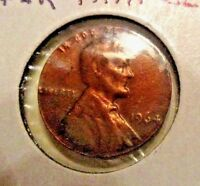RARE  1964  LINCOLN CENT - PAPER THIN ERROR -MISSING CORE -  UNCIRCULATED