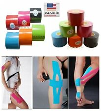 4Rolls 5CM x 5M Kinesiology Sports Muscles Care Elastic Physio Therapeutic Tape