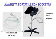 LAVATESTA PORTATILE PARRUCCHIERE DOCCETTA IN PLASTICA TUBO DI SCARICO 1,5MT