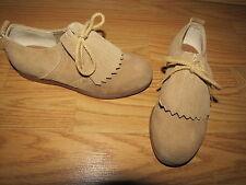 Stride Rite Tan Suede Oxford Kiltie Shoes  - Boys' 12D
