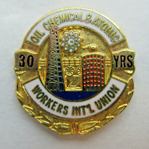 Oil Chemical & Atomic Workers International Union 30 Year Tie Tack Lapel Pin