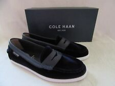COLE HAAN Womens Pinch Weekender Suede Marine Blue Leather Shoes US 7 EUR 38 NWB
