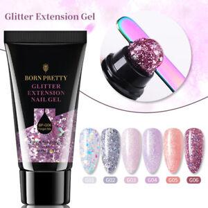 30ml BORN PRETTY Extension Gel Glitter Pink Soak Off UV Gel Nail Art Varnish DIY