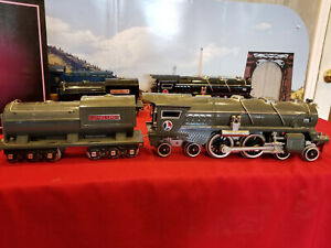 LIONEL NEW 400E STANDARD GAUGE  GRAY STEAMER WITH GRAY TENDER NEAR PERFECT NO BX