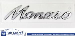 NOS Holden Monaro VY CV8-R Rear Quarter Monaro Badge Emblem Decal Bright Chrome