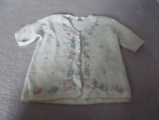 Segue Women's Button Down Floral Sweater Size M(10-12)