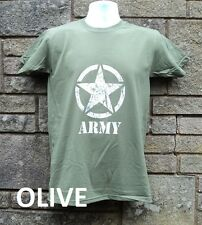 US Army MASH Style T shirt, Retro Vietnam Military T shirt, Green / Khaki
