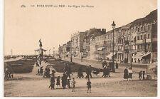 Carte postale ancienne animée Boulogne sur Mer La Digue Sainte-Beuve 1924 CPA