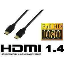 Cable HDMI 1.4 PLAQUE OR FULL HD TV 3D 50 centimètres