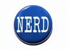 NERD - Blue Button Pinback Badge 1""