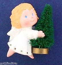 BUY1&GET1@50%~Hallmark PIN Christmas ANGEL Bottle BRUSH TREE Vtg Holiday Brooch