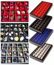 1 Glass Display Case Gray 32 Division Sport Badge Coins Police Fire WW1 WW2