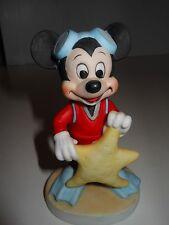 Disney Mickey Mouse SCUBA WITH STAR Porcelain Figure