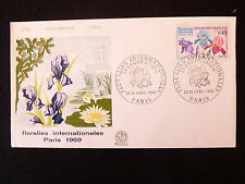 FRANCE PREMIER JOUR FDC YVERT 1597  FLORALIES  0.45 F  PARIS  1969
