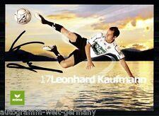 Leonhard Kaufmann SK Austria Kärnten TOP AK Original Sign. +A 60192