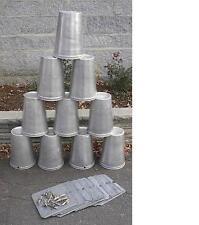 15 MAPLE SYRUP Aluminium Sap BUCKETS + 15 Lids Covers + 15 Taps Spouts Spiles