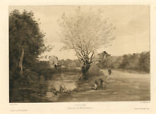 """Jean-Baptiste Corot """"L'ecluse"""" etching"""