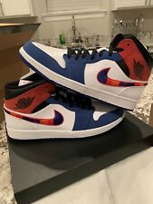 Nike Air Jordan 1 Mid SE Men's Size 14 Multicolored Swoosh White 852542-146 DS