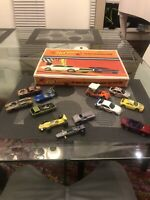 Original 1967 Hot Wheels Redline 24 Car Collector's Case With 12 Loose Cars Used