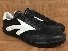 Vintage🔥 USA Olympics 80s Black Leather SuperStar Indoor Turf Shoe 11 Korea🇰🇷